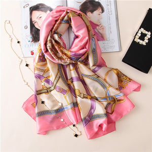 soft silk scarves female shawls
