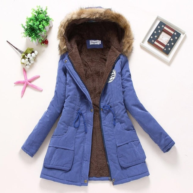 cotton wadded hooded jacket