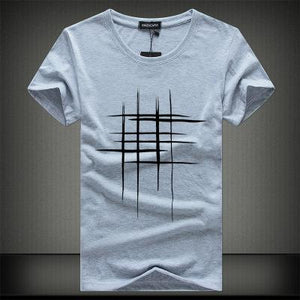 line cross Print cotton Men t-shirt - Narvay.com