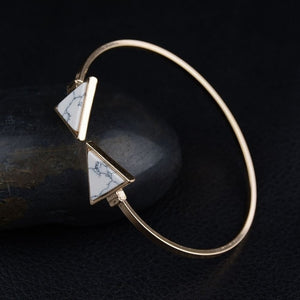 Triangle Open Cuff Punk Bracelet