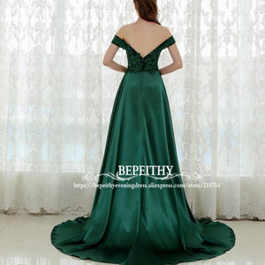 Sexy Sleeveless Long Prom Dresses Open Back Slit