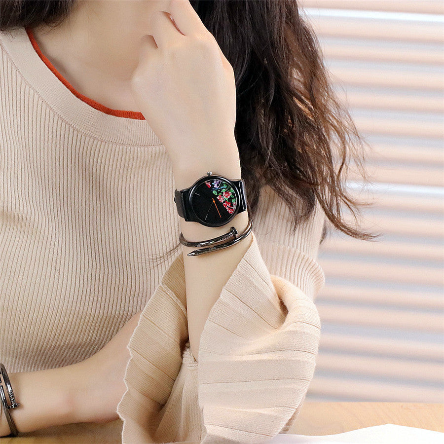 Floral Pattern Casual Watch