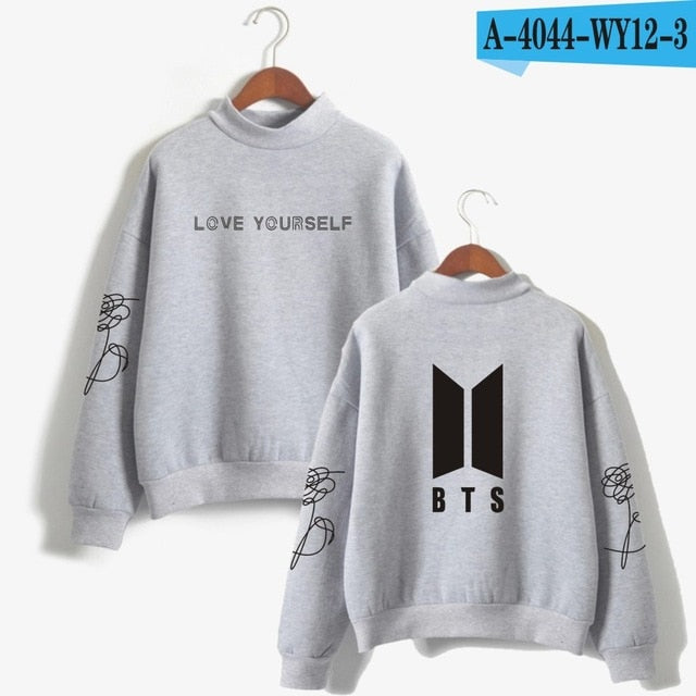 Love Yourself k pop Women Hoodies Sweatshirts