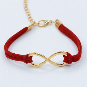 Vintage Infinity 8 Cross Leather Bracelets