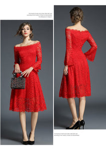 Christmas Lace Render Dress