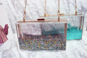 Square acrylic bag double-sided liquid
