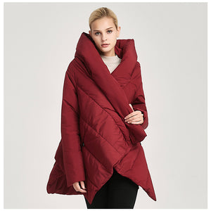 New Irregular Winter Jacket Long coat