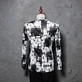 Tide Men Ink Style Leisure Suit Jacket