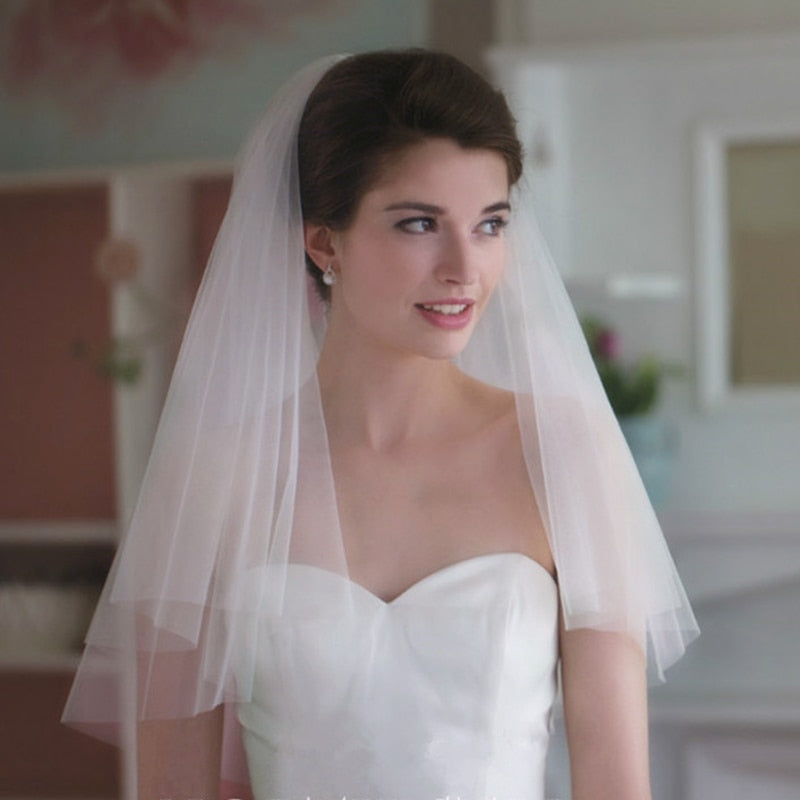 Short Veil With Comb Wholesale Simple - Narvay.com