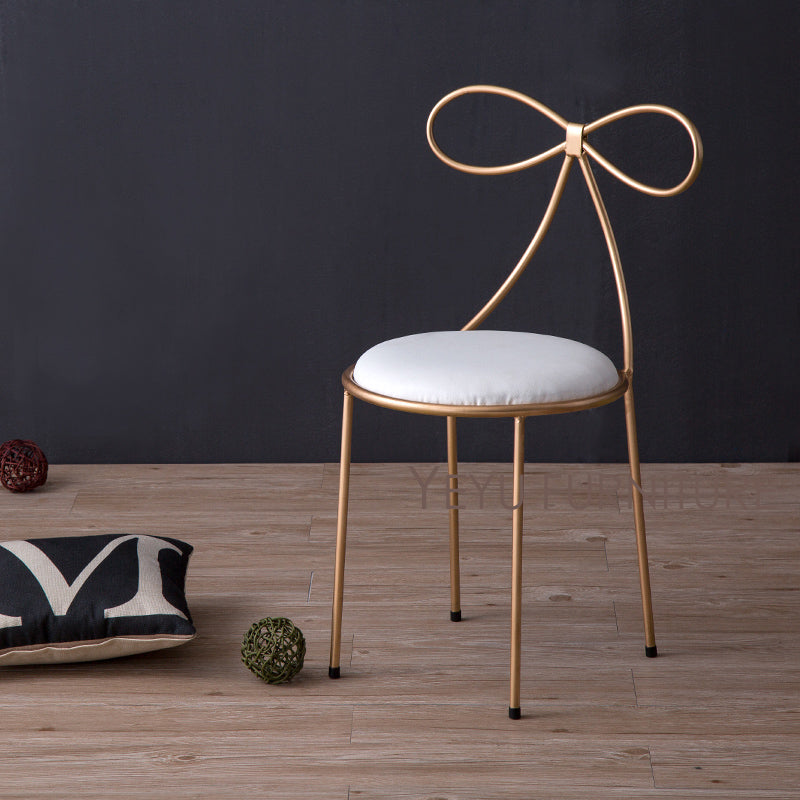 metal chair with soft cover seat