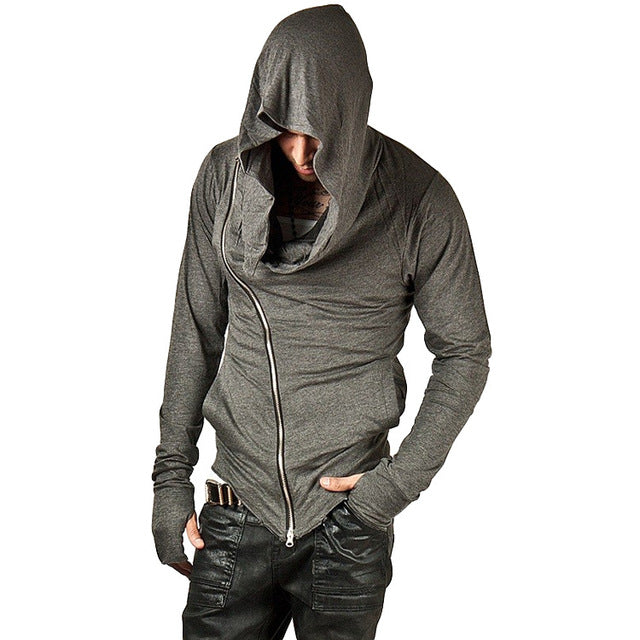 Men Hoodies Hop Streetwear Zipper Sweatshirt