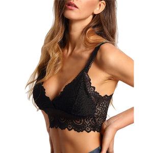 Scallop Wide Strap Lace Bralette