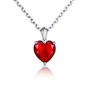 heart Necklace Sapphire Pendant Ruby jewelry