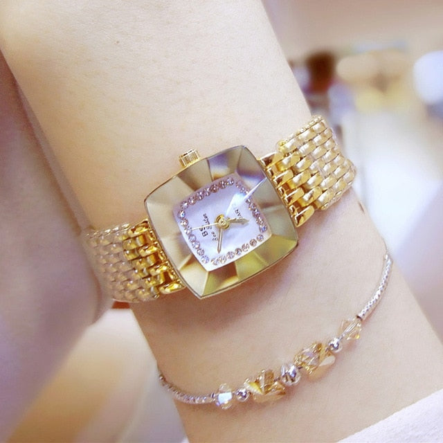 Elegant Gold Watch Women