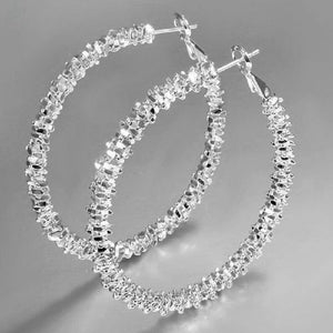 Silver Plated Stars Hoop Earring Ear Rings