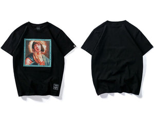 Virgin Mary Men's Printed Short Sleeve Tshirts