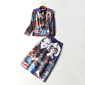 Runway Skirt Suit Women's Vintage