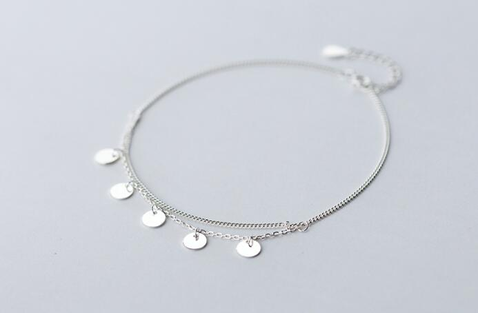 silver Fine Jewelry Multi-Layers Polished  Round