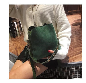 Fashion Scrub Women Bucket Bag