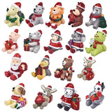 Christmas Santa Snowman Miniature Figurine Home Decoration