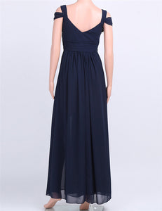 Off-The-Shoulder Long Bridesmaid Dress