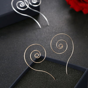 Swirl Spiral Hoop Earrings For Women Simple Round - Narvay.com