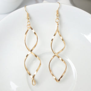 Fashion Double Loop Drop Earrings For Women