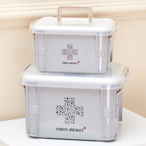 Medicine Box First Aid Kit Box Plastic Container - Narvay.com