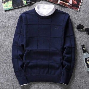 Cashmere Check Knitwear Man Pull
