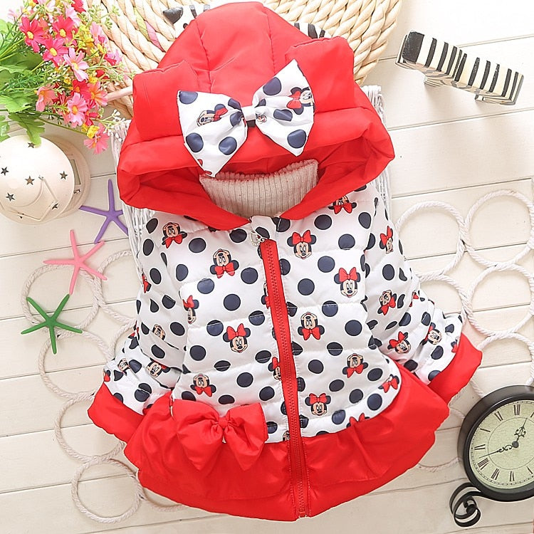 Girls jackets fashion Minnie cartoon Clothing coat