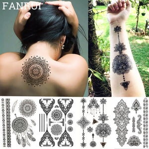 Lace Black Henna Temporary Tattoo