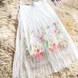 Puff Women Mesh Tulle long Skirt