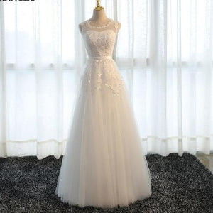 Tulle A Line Wedding Party Dress
