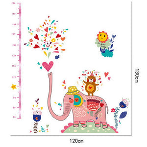 World Kids Child Height Chart Measure Wall Sticker For Kids Rooms
