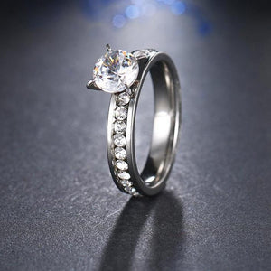 Titanium Stainless Steel Rings For Women Circle
