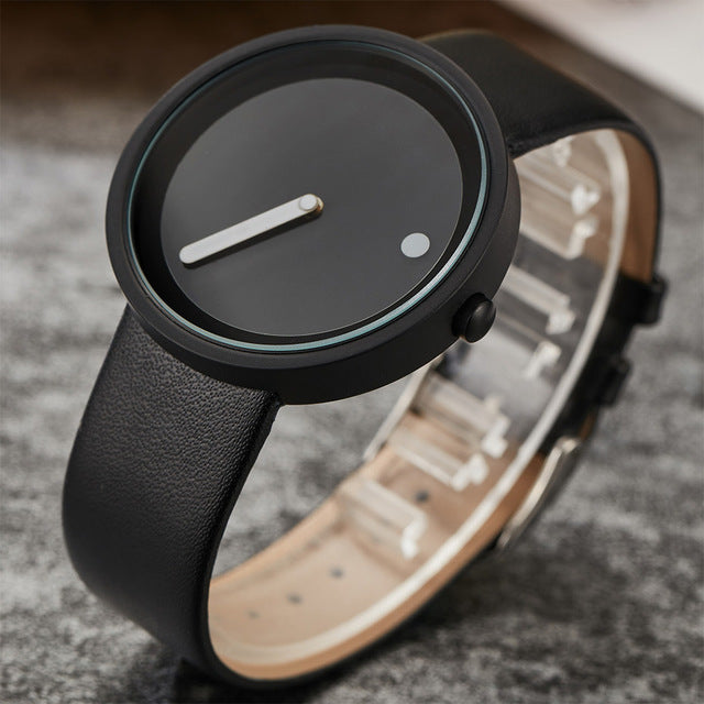 Dot and Line Simple Face Quartz Watches