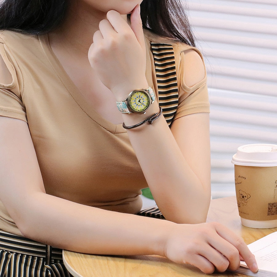 Women Creative Flower Watches