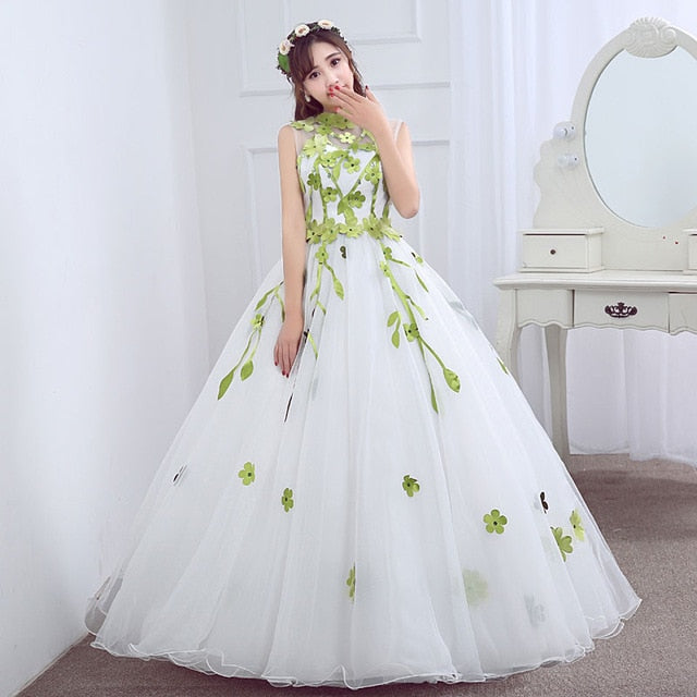 Halter Floor-length Ball Gown Off The Shoulder