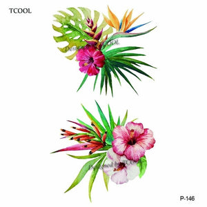 TCOOL Flower Temporary Tattoos