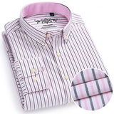 Men's Long Sleeve Contrast Plaid
