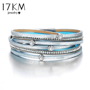Women Men Multiple Layers Leather Bracelet