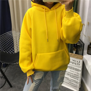 winter Casual Fleece women Hoodies Sweatshirts