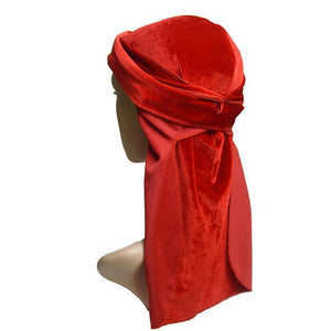 Men's Velvet Turban Hat Wigs