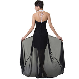 Backless Short Front Long Gowns