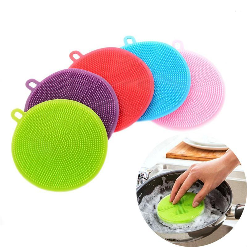 Sponge Silicone Dish Washing Brush