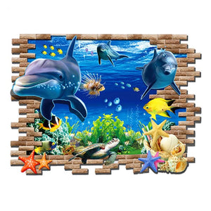 3D Wall Sticker Undersea World Dolphin