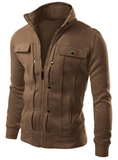 Cardigan Multi Button Hoodies Men