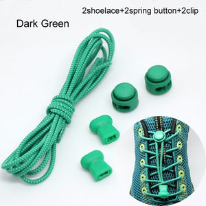 Locking Shoe Laces Elastic Sneaker Shoelaces