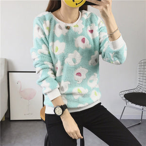 Women's Cute Print Hoodie Winter