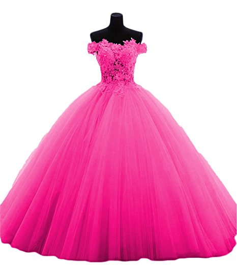 Boat-Neck Quinceanera Dresses